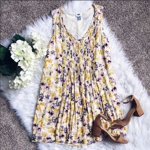 Old Navy Watercolor Floral Dress
